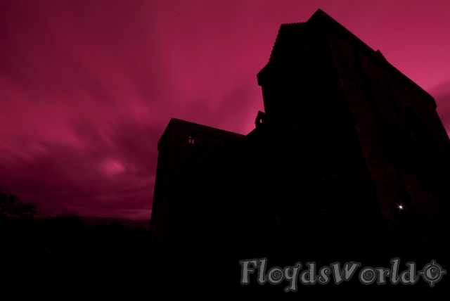 watermarked-Hermitage Castle Red Sky